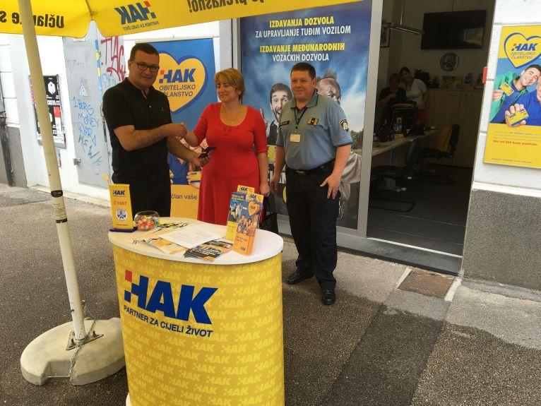 tajnik AK  Rijeka Mile Perić,  nagrađena Jasminka Tolić Balja, Boris Skeledžić
