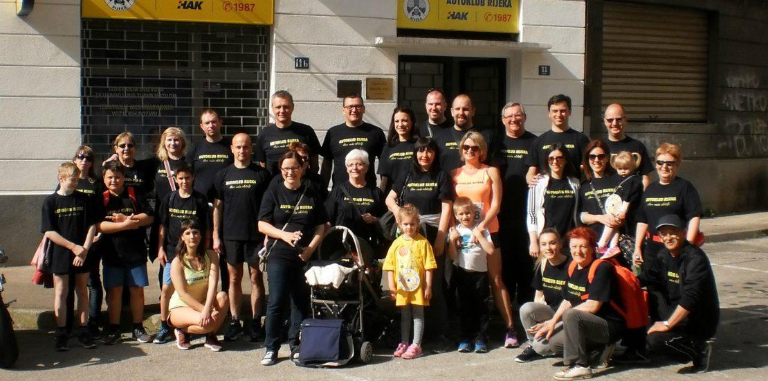 Radnici i članovi Autokluba Rijeka na Homo si teć 2016. godine