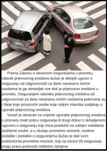 Prometna nesreća i osiguranje